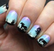 horse nail design nails