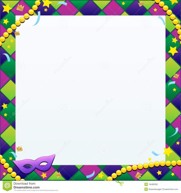 Mardi Gras Borders Backgrounds Illustration Of