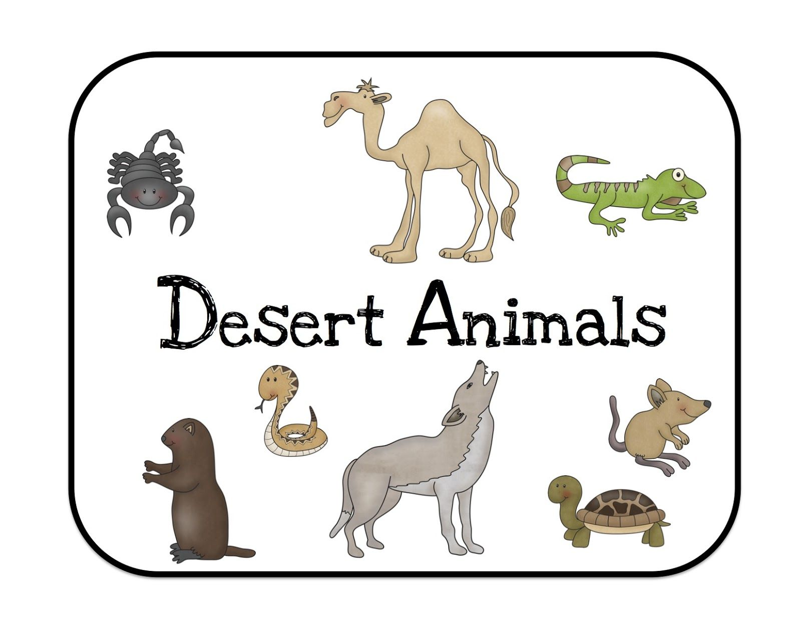 Preschool Printables Desert Animals Bulletin Board Cards