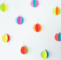 DIY Neon Ornament Wall Decals