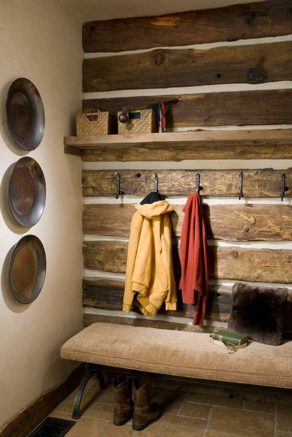 A Handcrafted Montana Vacation Log Home Mud Rooms