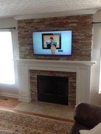 wood trim around brick fireplace - Google Search | MUST ...