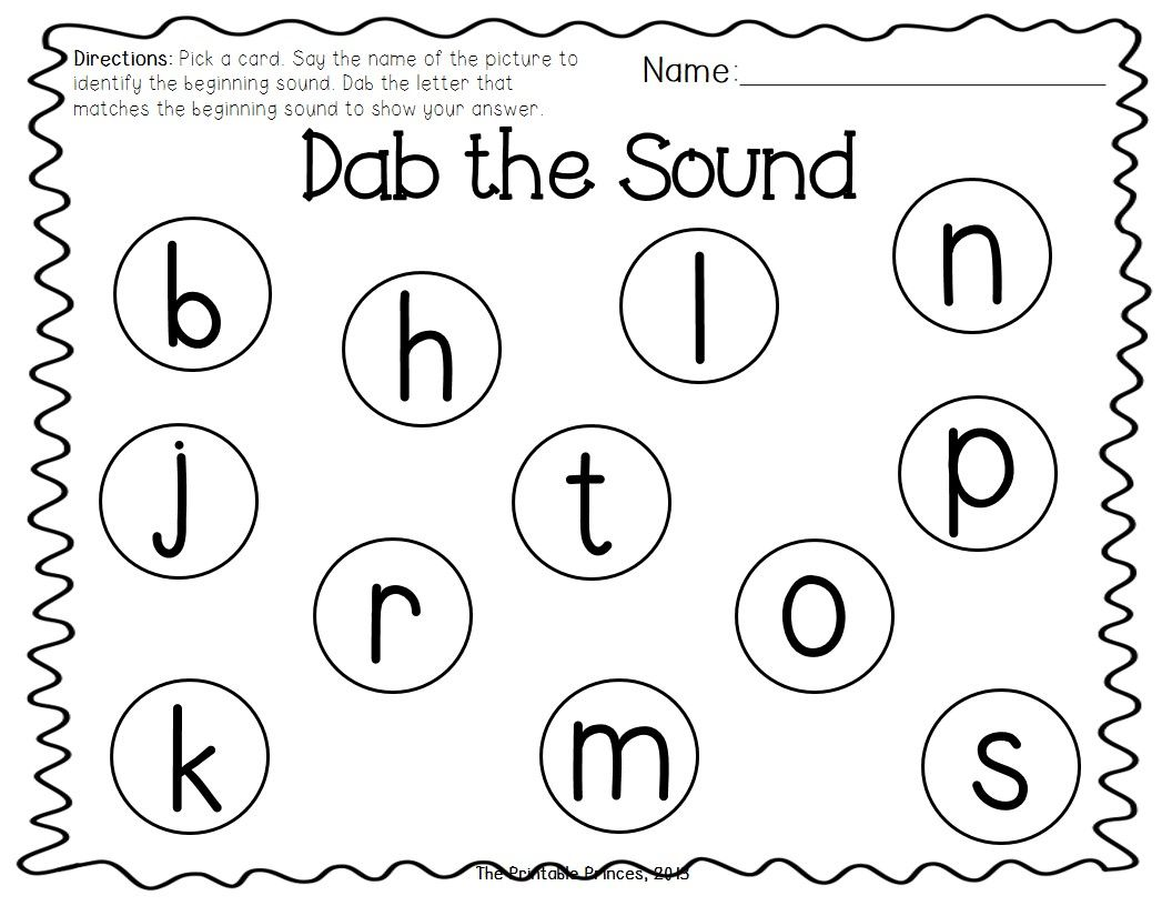 Beginning Sound Bingo Dabber Freebie Students Select