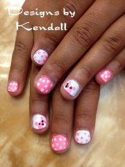 kid nail design. baby bears