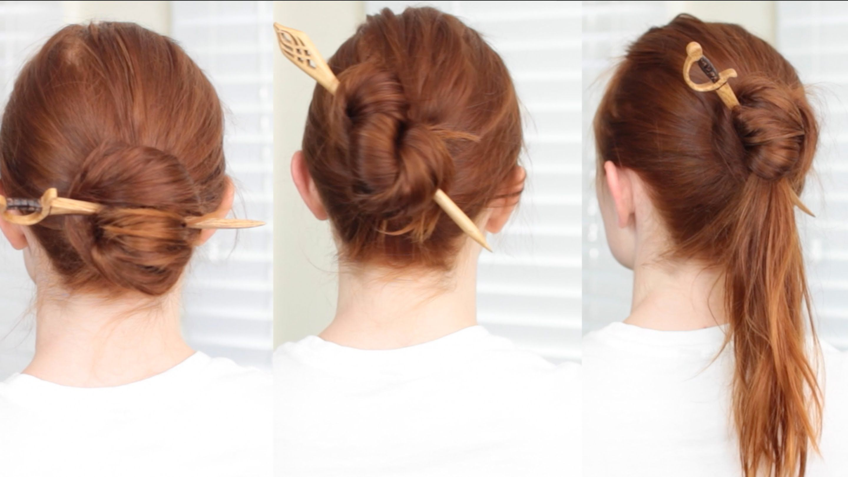 Sometimes we just want to throw our hair up into a bun to keep it