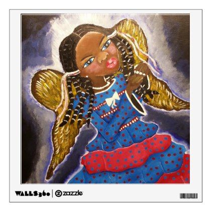 also african american angel wall decal decals rh pinterest