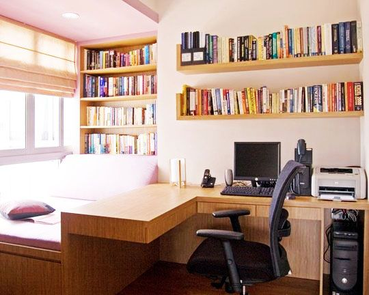 Home Office Ideas Contemporary Simple Layout & Colors Small