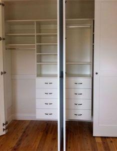 Wall mounted internals also sliding door wardrobes small built in wardrobe is hiding the rh pinterest