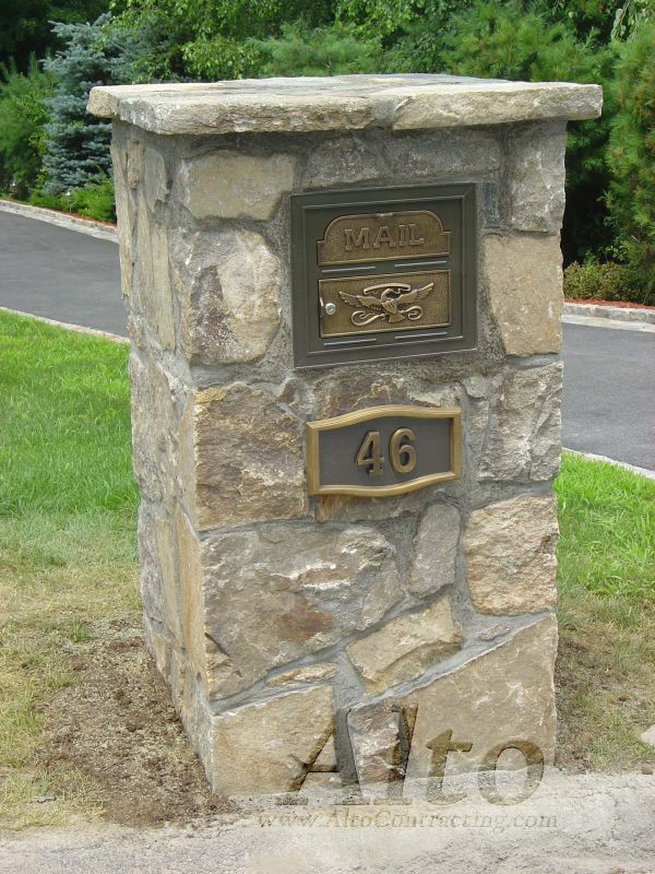 Stone Residential Mailboxes