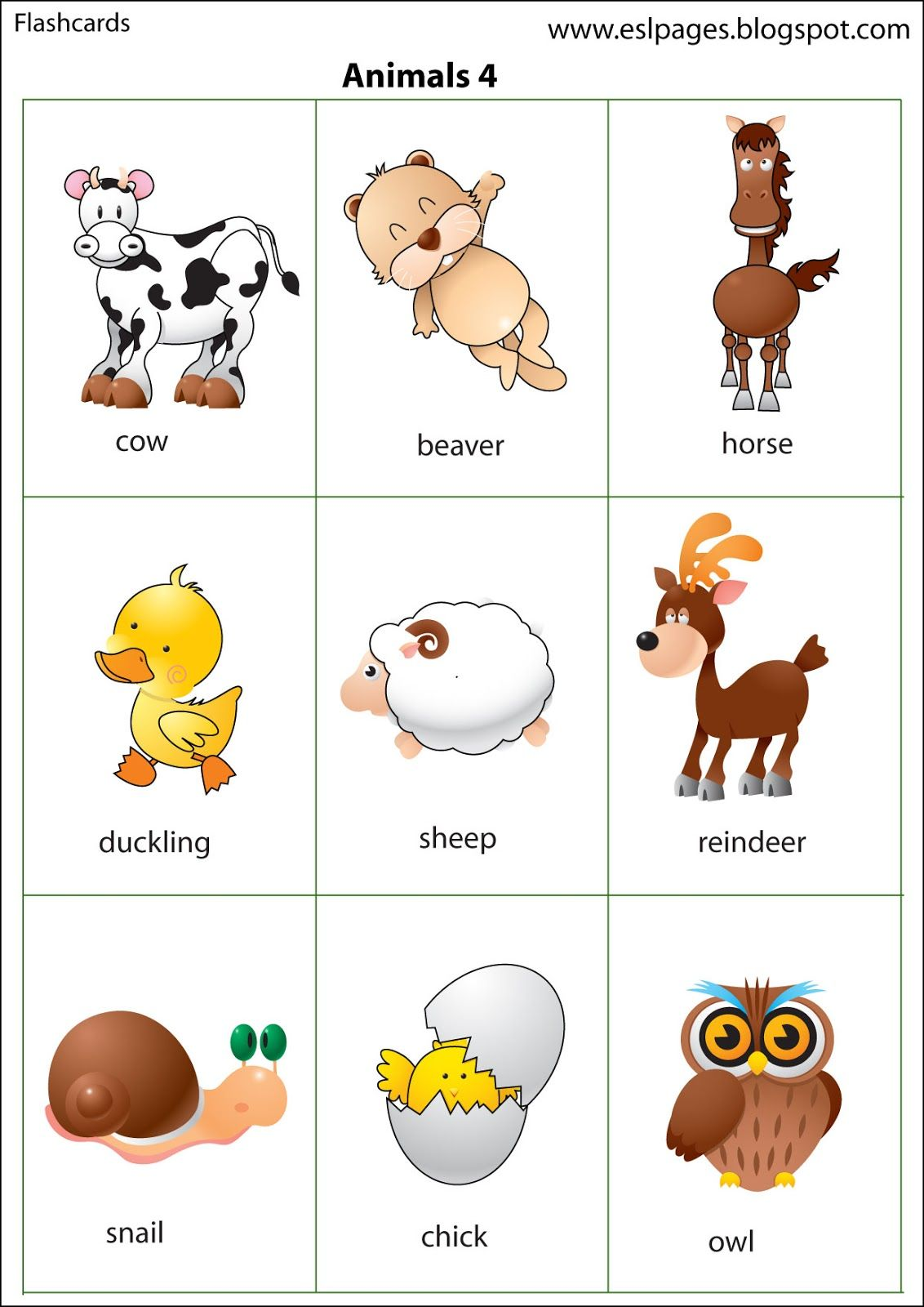 Esl Pages Animals