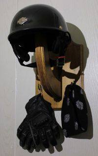 Motorcycle Helmet Holder Bicycle Helmet Hanger Wooden by ...