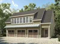 Plan 36057DK: 3 Bay Carriage House Plan with Shed Roof in ...