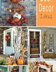 Fall front door decor ideas also doors and weather rh pinterest