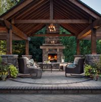 50+ Marvelous Rustic Outdoor Fireplace Designs For Your ...