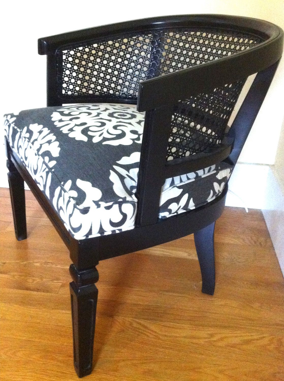 black barrel chair nursery with ottoman i bet could do this the kohl a caned