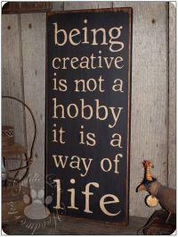 Being Creative, Typography Word Art , Primitive Sign ...