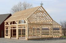 Post and Beam Barn Garage Plans