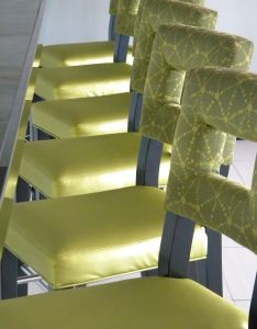 Our lumina pattern on  bar stool seat at the chart house restaurant inside also rh pinterest