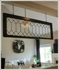 Hang a vintage leaded glass window with eye hooks/bolts ...