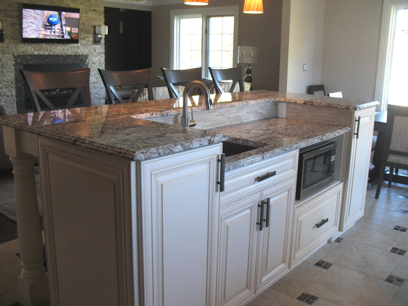 two tier kitchen island ikea cabinet installation chiefswood classic with modern touches