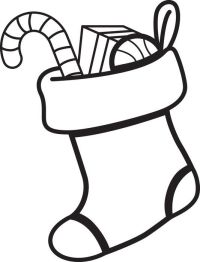 Stocking Coloring Page Printable | Stocking Coloring Page ...