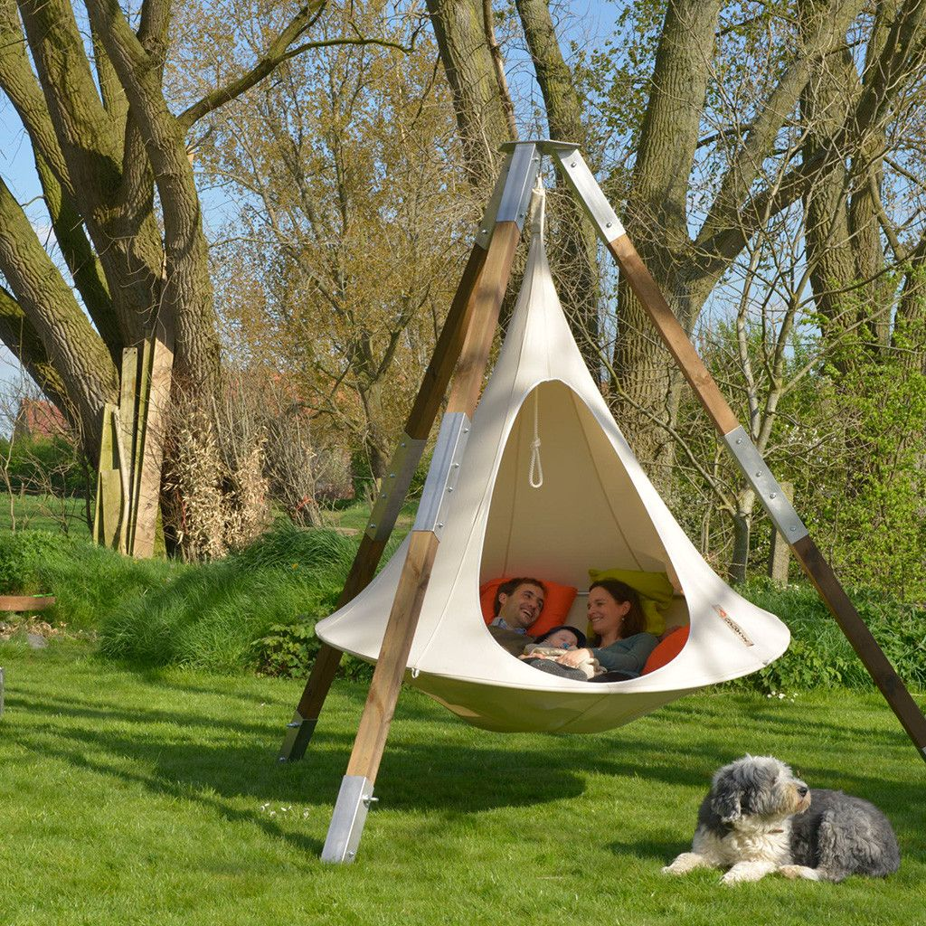 Double Cacoon Hammock Natural White