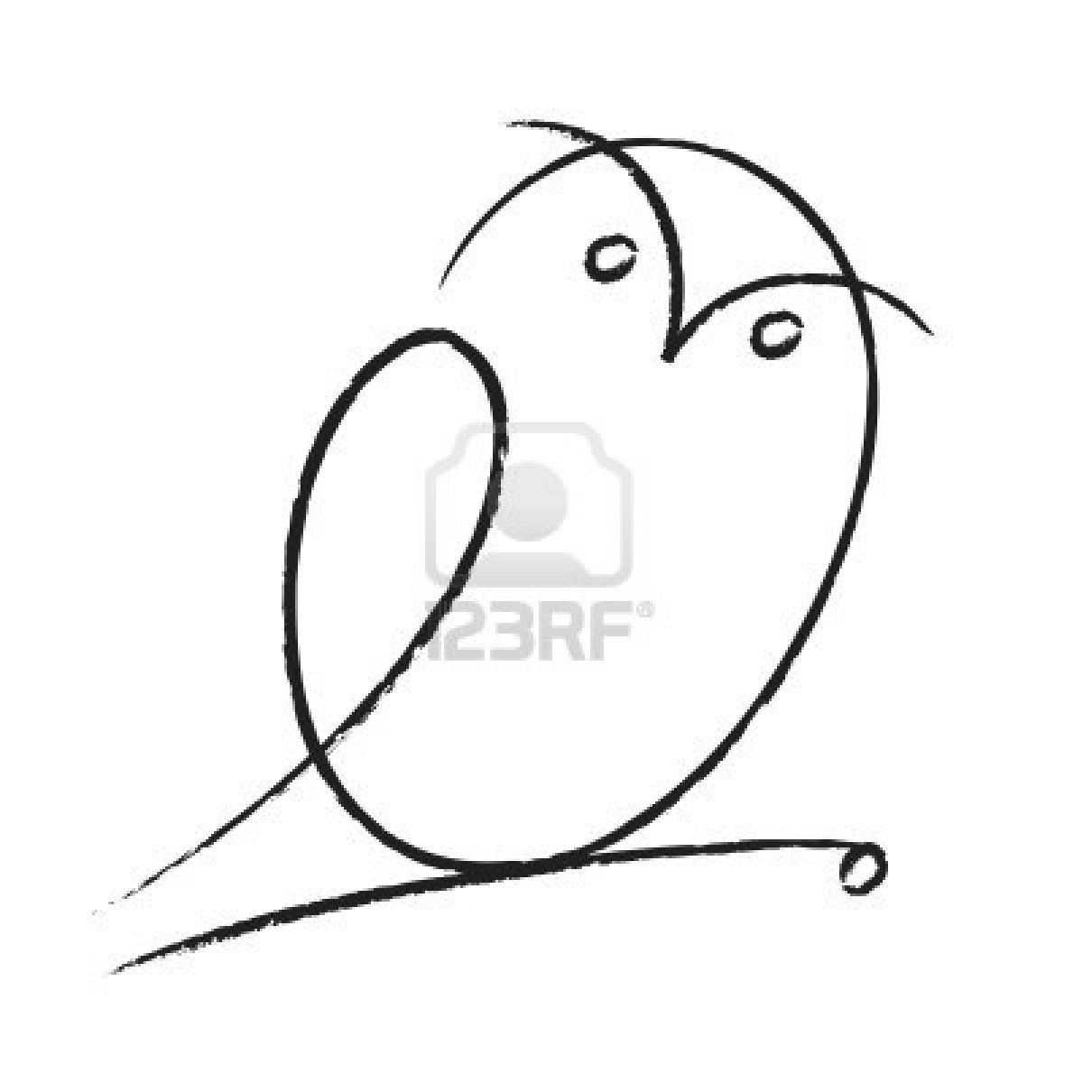 Very Easy Bird Drawing Drawn Bird Pencil Sketch Pencil And In
