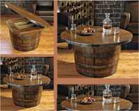Wine/Whiskey Barrel Coffee Table  Tips On How To Make It ...