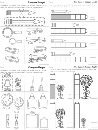Worksheets for measuring length and height. Part of a ...