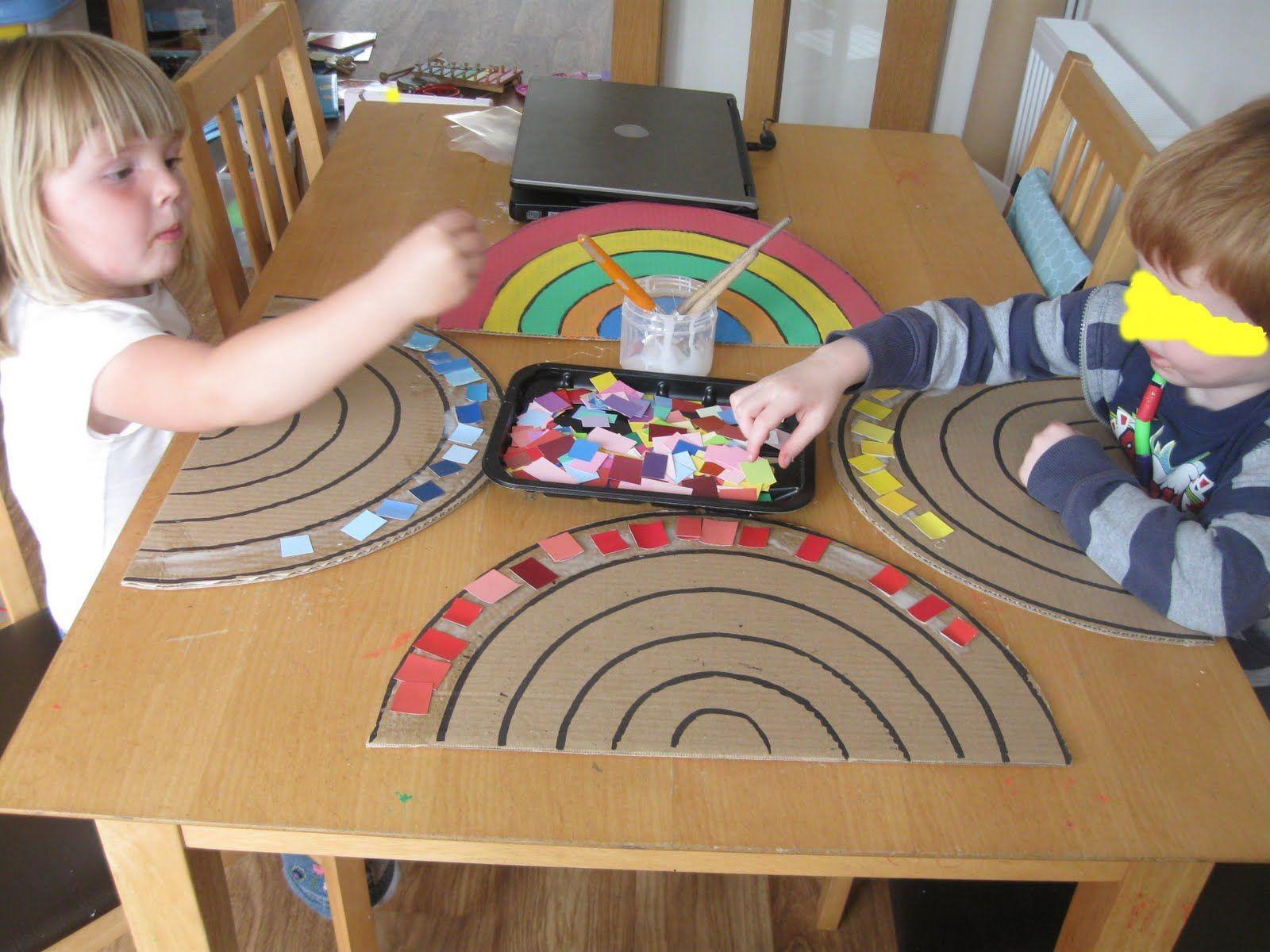 Rainbow Making With Preschoolers