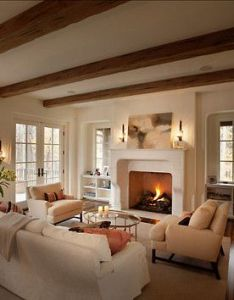 Traditional family room exposed beams design pictures remodel decor and ideas also simply stated lovely chimeneas pinterest interiors rh