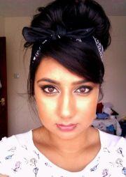 bandana. black hairstyle