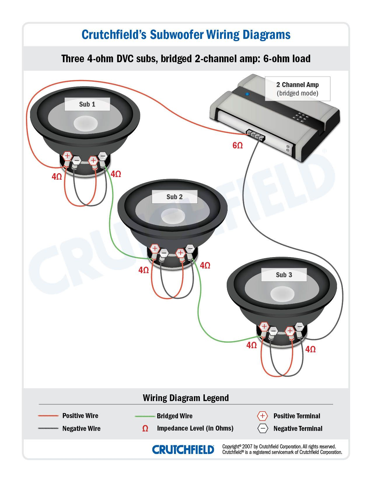car audio crossover wiring diagram 1990 ford bronco top 10 subwoofer free download 3 dvc 4 ohm