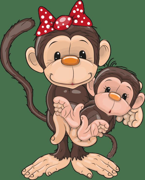 safari & zoo clip art. style-monkeys apes