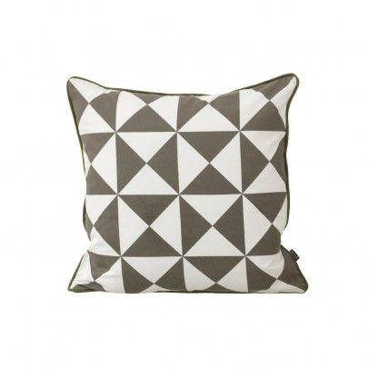 coussin large geometry gris 50x50 cm ferm living