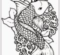 Backgrounds coloring pages fish of thanksgiving computer full hd pics adult fish realistic