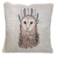 coral and tusk owl portrait pillow | A M O R I N I | I N T ...