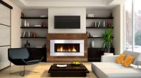 Awesome Shelving Design Ideas Modern Gas Fireplaces ...