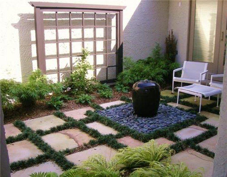 Small Front Yard Courtyards Small Courtyard Garden Ideas Various