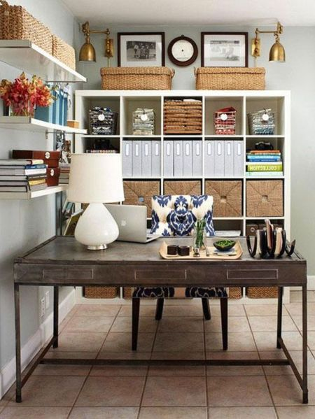 small home office interior design ideas Decorating, Chic Small Home Office Interior Design And Decorating Ideas Well Arranged Home