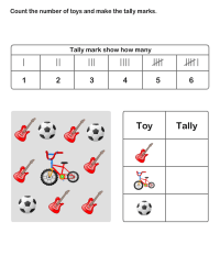 Math Worksheets, Grade-2 Worksheets, Tally Chart ...