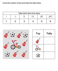 Math Worksheets, Grade-2 Worksheets, Tally Chart ...