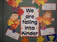 My Kindergarten Fall Door Decoration