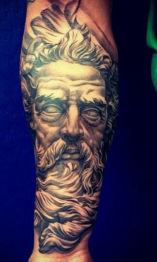 San Judas Tattoo Forearm