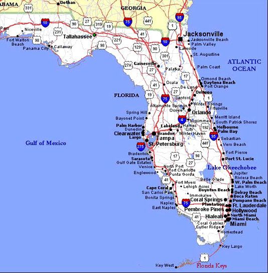These maps of Orlando Central Florida and the State of