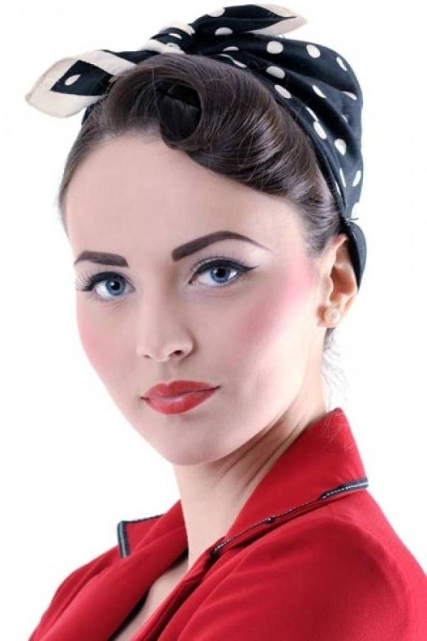 "Bandana Pin Up Girl Hairstyles For Long Hair A ""Hairy"" Situation"