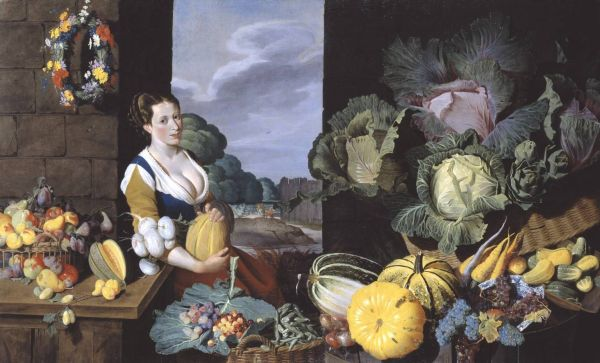 Cook Maid of Still Life with Fruit and Vegetables