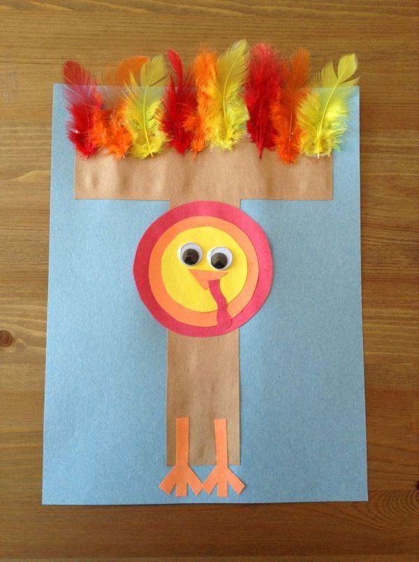 Preschool Letter T Turkey Craft