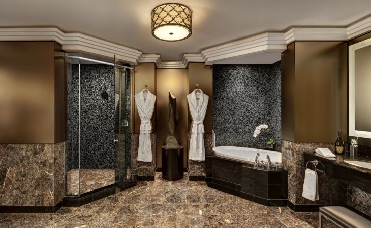wallpaper luxury master bathroom shower for plans androids hd pics the new york palace has two suites that cost a month
