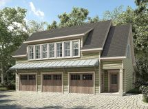 3 Car Garage with Carriage House Plans